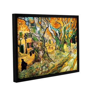 ArtWall 'Vincent VanGogh's The Road Menders' Gallery Wrapped Floater-framed Canvas