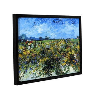 ArtWall 'Vincent VanGogh's Green Vineyard' Gallery Wrapped Floater-framed Canvas