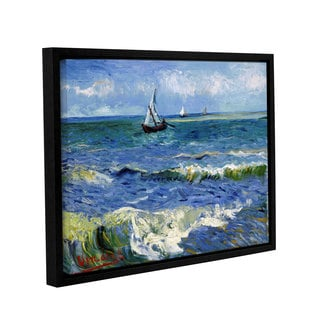 ArtWall 'Vincent VanGogh's Seascape at Saintes Maries' Gallery Wrapped Floater-framed Canvas