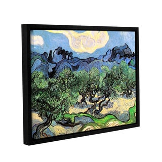 ArtWall 'Vincent VanGogh's Olive Tress in a Mountanious Landscape' Gallery Wrapped Floater-framed Canvas