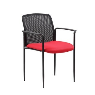 Boss Stackable Red Mesh Guest Chair