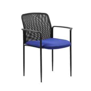 Boss Stackable Blue Mesh Guest Chair