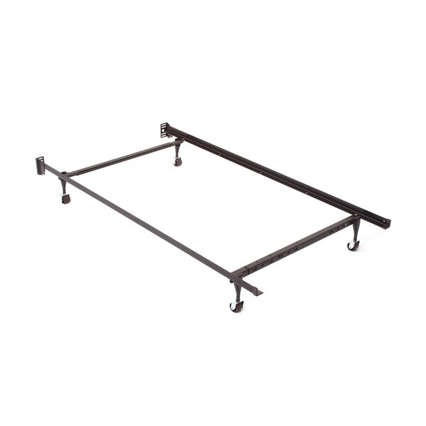 Twin/ Full/ Queen Angle Iron Steel Bed Frame with 70-inch Side Rail