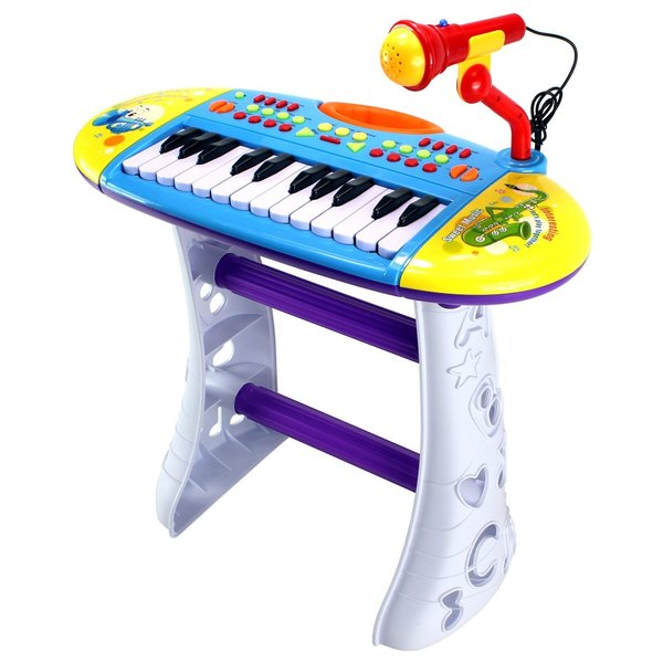 Portable Fun Piano Children's Musical Instrument Toy Keyboard Playset