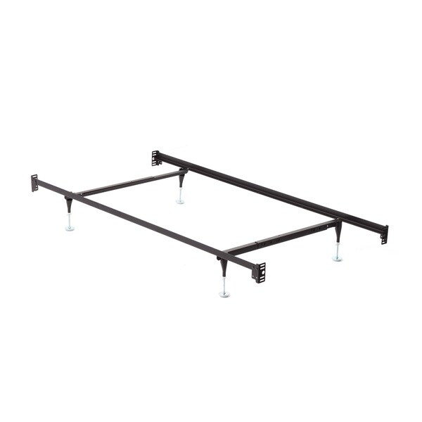 Twin/ Full Bolt On Angle Iron Steel Bed Frame with Headboard and Footboard Brackets