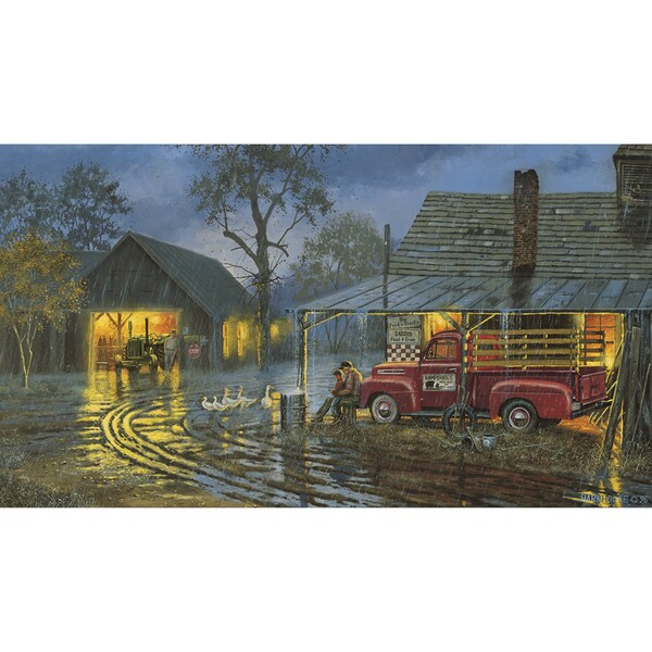 Shelter from the Storm Canvas by Dave Barnhouse