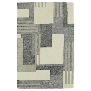 Hand-Tufted Mi Casa Ivory Geo Rug (9'0 x 12'0)