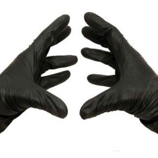 10000 / Cs Large Disposable Medical Exam Nitrile Non-Latex Gloves 5 Mil Black