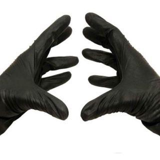 Box Of 200 XLarge BLACK Nitrile Disposable Powder-Free Gloves 5 Mil
