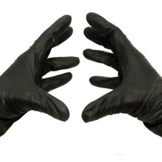 Box Of 200 2XLarge BLACK Nitrile Disposable Powder-Free Gloves 5 Mil