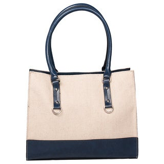 Emilie M Kimberley Linen Two Tone Tote
