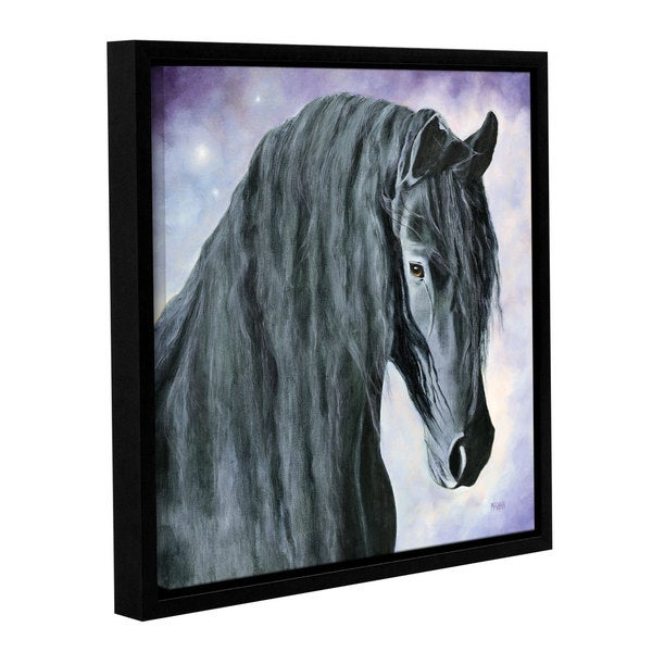 ArtWall 'Marina Petro's Hassel the Gentle Giant' Gallery Wrapped Floater-framed Canvas