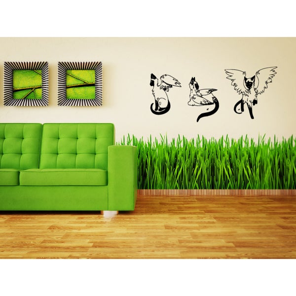 Balinese Cat Breed Cat Angel wings Wall Art Sticker Decal
