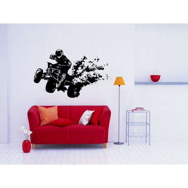 Quad bike Race Sport Man Wall Art Sticker Decal