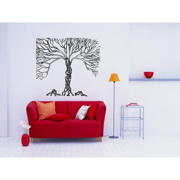 Wicker Tree Wall Art Sticker Decal