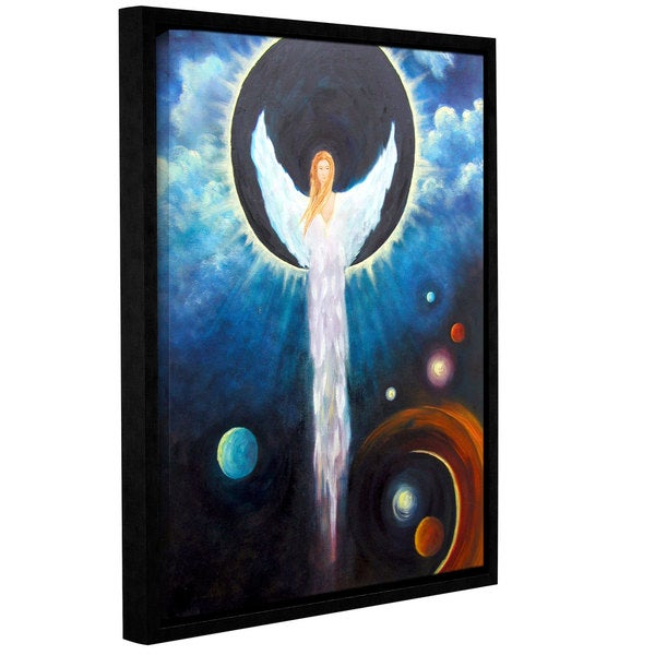 ArtWall 'Marina Petro's Angel of the Eclipse' Gallery Wrapped Floater-framed Canvas