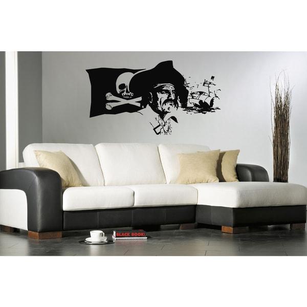 Pirate Ship Skull Wall Art Sticker Decal