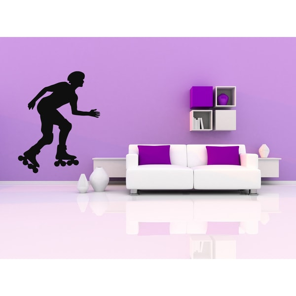 Roller Man Speed and Race Wall Art Sticker Decal