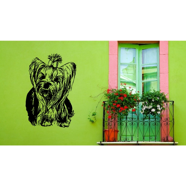 Yorkshire Terrier Dog Puppy Breed Pet Wall Art Sticker Decal