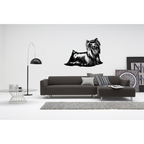 Yorkshire Terrier Dog Wall Art Sticker Decal