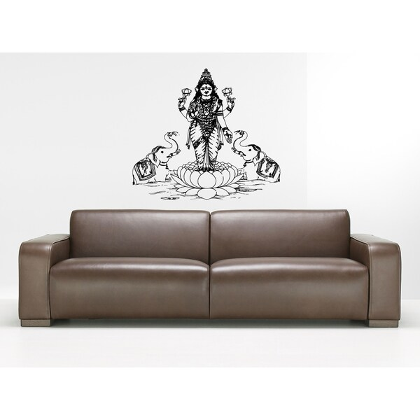 Lakshmi Hindu goddess of wealth love Wall Art Sticker Decal