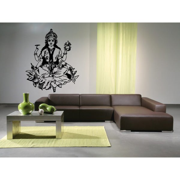 Lakshmi Hindu goddess beauty Girl Wall Art Sticker Decal