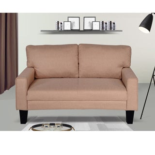 Fabric Modern Style Arm Loveseat