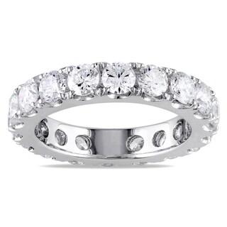 Miadora Signature Collection 14k White Gold 3ct TDW Diamond Eternity Ring (G-H, I1-I2)
