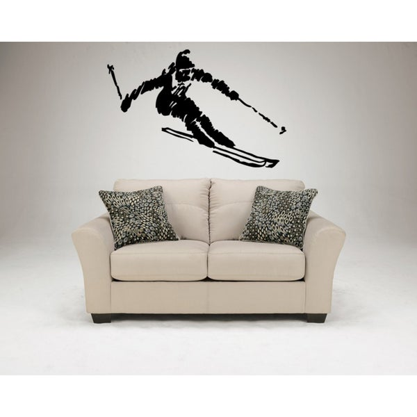 Ski Mountains alpine skiing Sport down Wall Art Sticker Decal