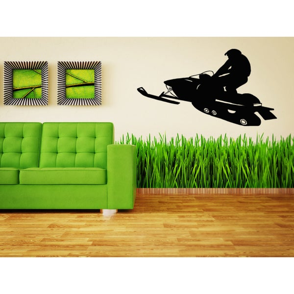 Snowmobile Sport Jumping Race Wall Art Sticker Decal