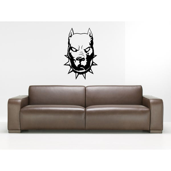 Pitbull Dog Aggression Wall Art Sticker Decal