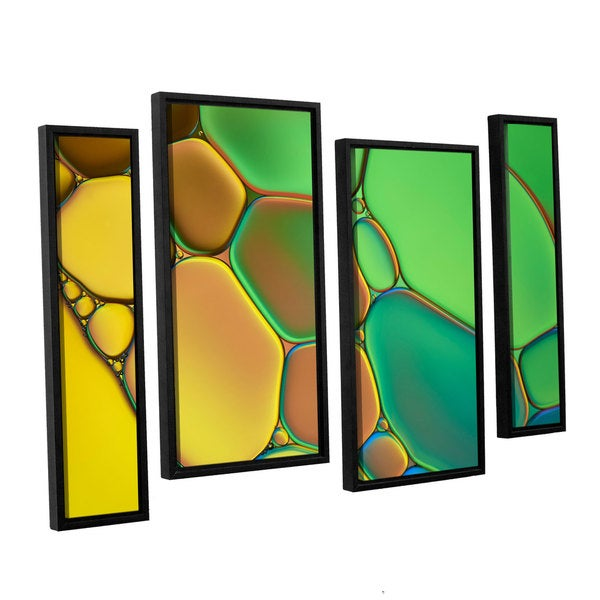ArtWall 'Cora Niele's Stained Glass III' 4-piece Floater Framed Canvas Staggered Set 17525472