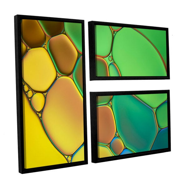 ArtWall 'Cora Niele's Stained Glass III' 3-piece Floater Framed Canvas Flag Set 17525495