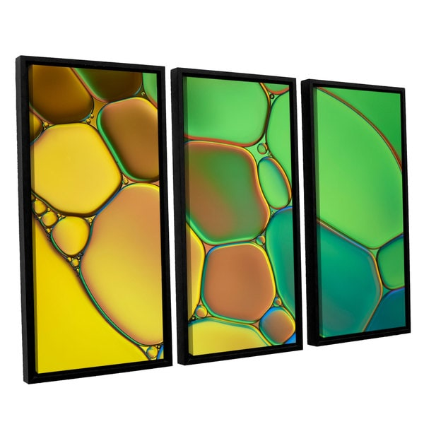 ArtWall 'Cora Niele's Stained Glass III' 3-piece Floater Framed Canvas Set 17525496