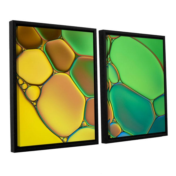 ArtWall 'Cora Niele's Stained Glass III' 2-piece Floater Framed Canvas Set 17525498