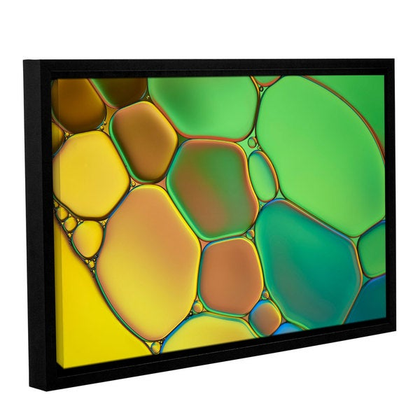 ArtWall 'Cora Niele's Stained Glass III' Gallery Wrapped Floater-framed Canvas 17525501