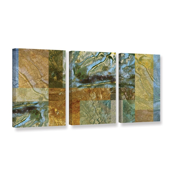 ArtWall 'Cora Niele's Splendour' 3-piece Gallery Wrapped Canvas Set
