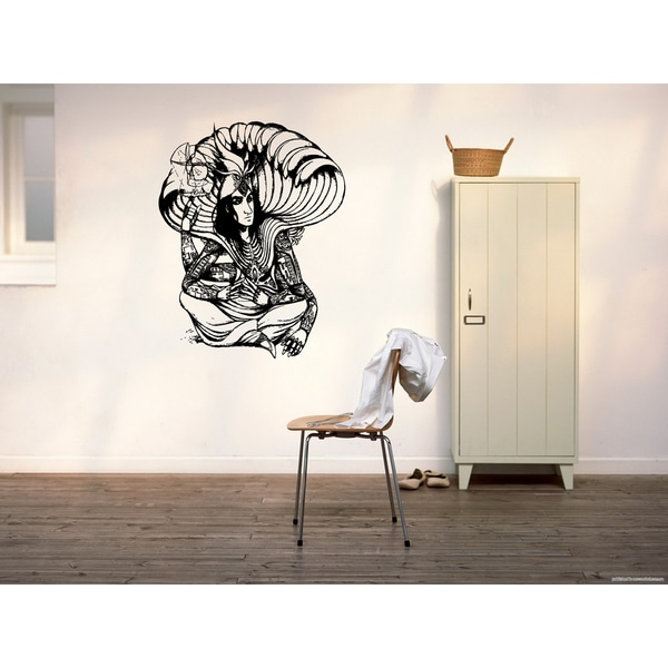Viu Hindu deity Supreme God Vaishnavism Trimurti Narayana Lord Hari Being Sagara Tantric Yogic Wall Art Sticker Decal