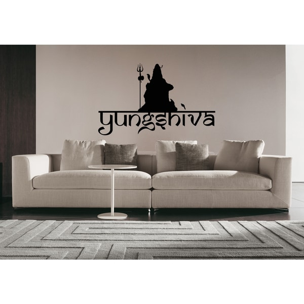 Shiva The Auspicious Mahadeva Trident Wall Art Sticker Decal