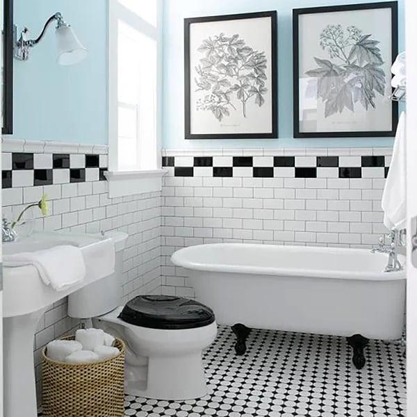 SomerTile 3x6-inch Malda Subway Glossy Black Ceramic Wall Tile (Case of 136) 17525754