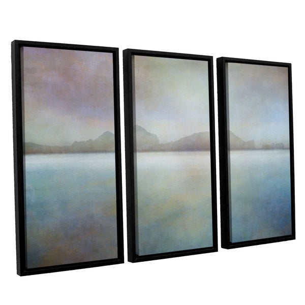 ArtWall 'Cora Niele's Landscape Iceland Westman' 3-piece Floater Framed Canvas Set