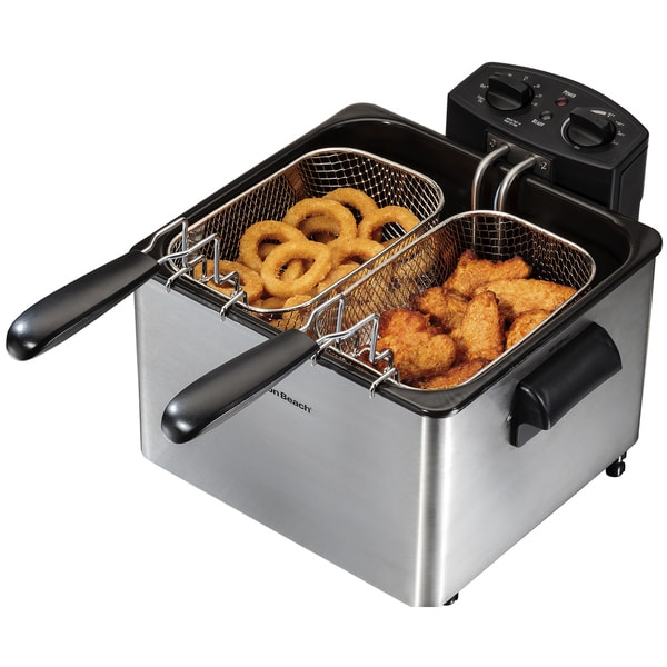Hamilton Beach Stainless Steel 12 Cup Professional Style Deep Fryer 17526121