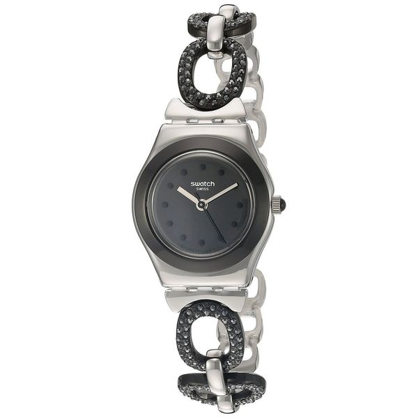 Swatch Women's YSS293G 'Irony Black Glitter' Two-Tone Stainless Steel Watch