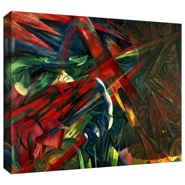 ArtWall 'Franz Marc's Fate of the Animals' Gallery Wrapped Canvas