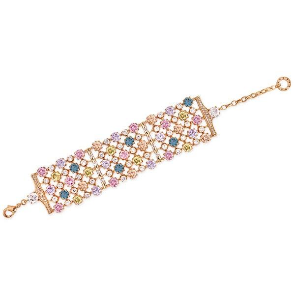 Collette Z Rose Gold Multicolor Cubic Zirconia Band Bracelet