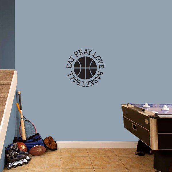Eat Pray Love Basketball Small Wall Decal