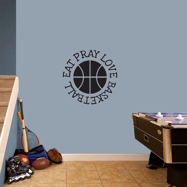 Eat Pray Love Basketball Medium Wall Decal