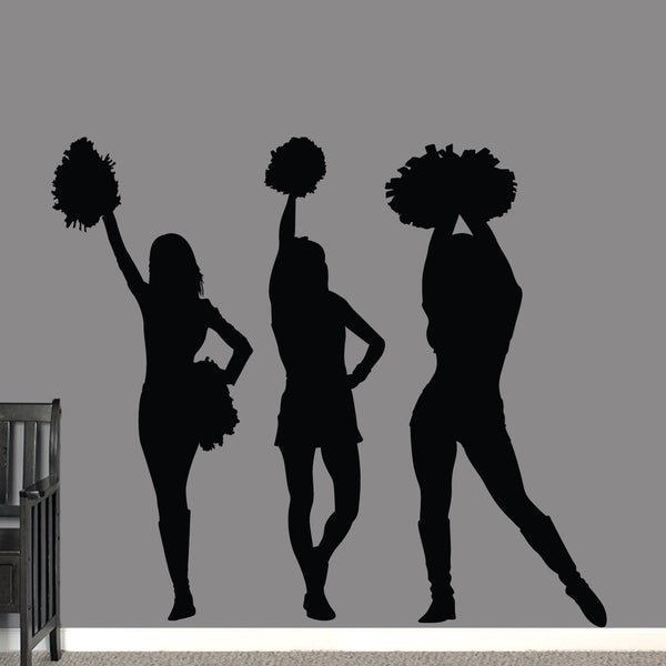 Cheerleaders Large Wall Decals