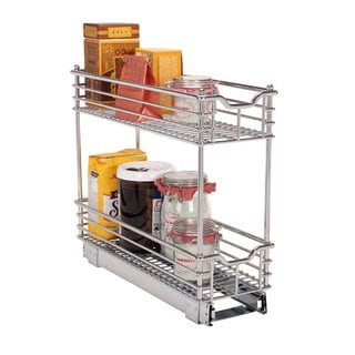 Household Essentials Glidez Narrow 7-inch Sliding Organizer, Chrome