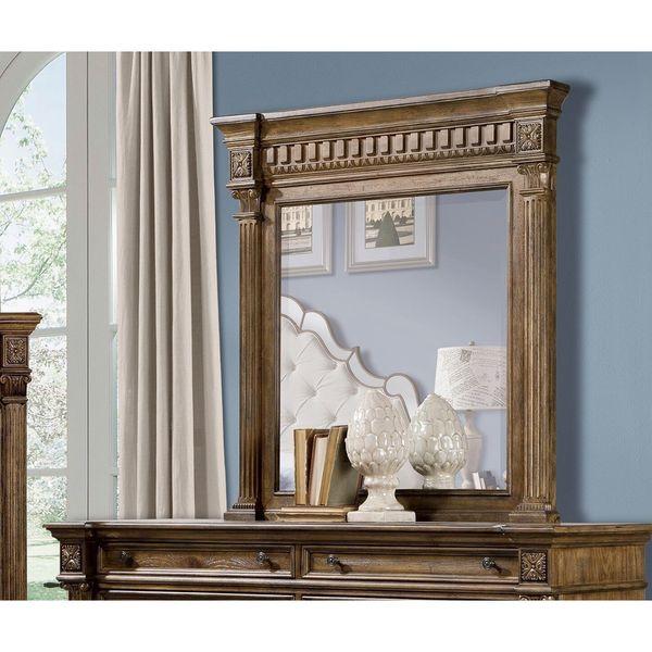 Pecan Brown Venetian Mirror